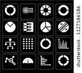 set of 16 icons such as pie...