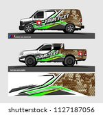 pick up truck and car decal... | Shutterstock .eps vector #1127187056