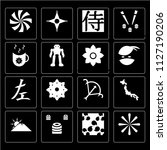 set of 16 simple editable icons ... | Shutterstock .eps vector #1127190206