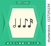 symbol of music  notes.... | Shutterstock .eps vector #1127191154