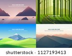 vector banners set with... | Shutterstock .eps vector #1127193413