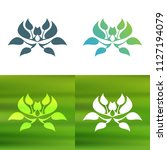 abstract foliate decoration....   Shutterstock .eps vector #1127194079