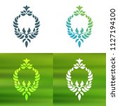 abstract foliate decoration....   Shutterstock .eps vector #1127194100