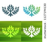 abstract foliate decoration....   Shutterstock .eps vector #1127194130