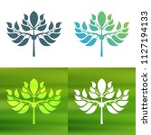 abstract foliate decoration....   Shutterstock .eps vector #1127194133