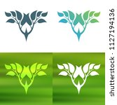 abstract foliate decoration....   Shutterstock .eps vector #1127194136