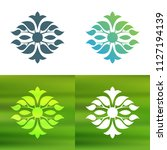 abstract foliate decoration....   Shutterstock .eps vector #1127194139
