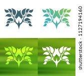 abstract foliate decoration....   Shutterstock .eps vector #1127194160