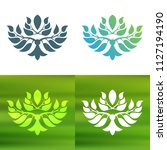 abstract foliate decoration....   Shutterstock .eps vector #1127194190