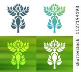 abstract foliate decoration....   Shutterstock .eps vector #1127194193