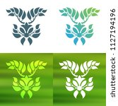 abstract foliate decoration....   Shutterstock .eps vector #1127194196