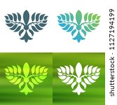 abstract foliate decoration....   Shutterstock .eps vector #1127194199