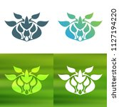 abstract foliate decoration....   Shutterstock .eps vector #1127194220