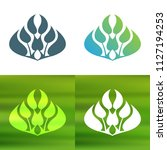 abstract foliate decoration....   Shutterstock .eps vector #1127194253
