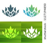 abstract foliate decoration....   Shutterstock .eps vector #1127194850