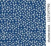 cross pattern. blue white... | Shutterstock .eps vector #1127197790