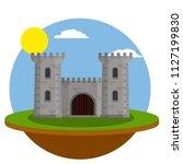 cartoon illustration   stone... | Shutterstock .eps vector #1127199830