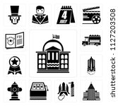 set of 13 simple editable icons ... | Shutterstock .eps vector #1127203508