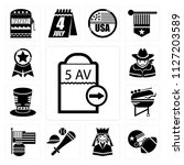 set of 13 simple editable icons ... | Shutterstock .eps vector #1127203589