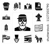 set of 13 simple editable icons ... | Shutterstock .eps vector #1127203790