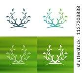 abstract tree concept logo.   Shutterstock .eps vector #1127203838