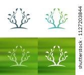 abstract tree concept logo.   Shutterstock .eps vector #1127203844