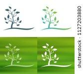 abstract tree concept logo.   Shutterstock .eps vector #1127203880