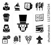 set of 13 simple editable icons ... | Shutterstock .eps vector #1127204234