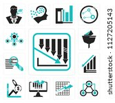 set of 13 simple editable icons ... | Shutterstock .eps vector #1127205143
