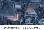 aerial view of business area in ... | Shutterstock . vector #1127205953