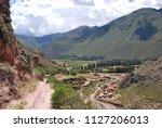landscape in the urubamba... | Shutterstock . vector #1127206013