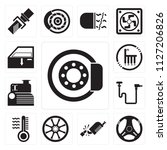 set of 13 simple editable icons ... | Shutterstock .eps vector #1127206826