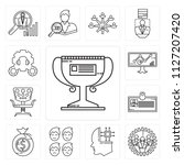 set of 13 simple editable icons ... | Shutterstock .eps vector #1127207420