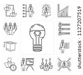 set of 13 simple editable icons ... | Shutterstock .eps vector #1127207519