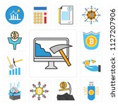 set of 13 simple editable icons ... | Shutterstock .eps vector #1127207906