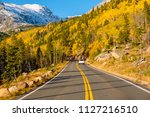 highway at autumn sunny day in...   Shutterstock . vector #1127216510