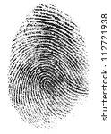 fingerprint pattern isolated on ... | Shutterstock . vector #112721938
