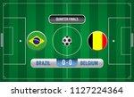 match of quarter finals.soccer... | Shutterstock .eps vector #1127224364