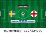 match of quarter finals.soccer... | Shutterstock .eps vector #1127224370