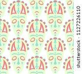 vector illustration. ethnic... | Shutterstock .eps vector #1127226110