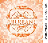 aberrant abstract orange mosaic ... | Shutterstock .eps vector #1127233436