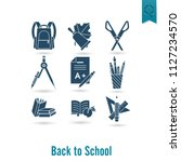 school and education icon set.... | Shutterstock .eps vector #1127234570