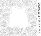 rose  hydrangea and ranunculus... | Shutterstock .eps vector #1127240003