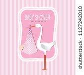 baby shower card | Shutterstock .eps vector #1127242010