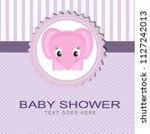 baby shower card | Shutterstock .eps vector #1127242013