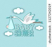 baby shower card | Shutterstock .eps vector #1127242019