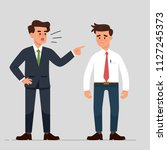 vector illustration a manager... | Shutterstock .eps vector #1127245373