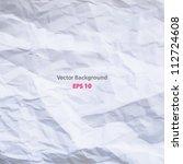 a crumpled paper design. vector ... | Shutterstock .eps vector #112724608