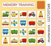 memory game for preschool...   Shutterstock .eps vector #1127257268