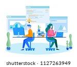 concept development team ... | Shutterstock .eps vector #1127263949